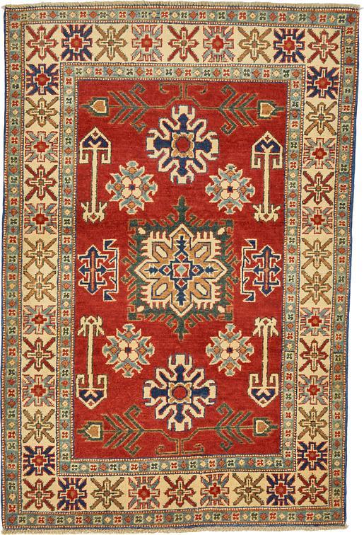Red 3 4 X 5 Kazak Oriental Rug Oriental Rugs Esalerugs