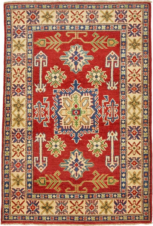 Red 3 5 X 5 Kazak Oriental Rug Oriental Rugs Esalerugs