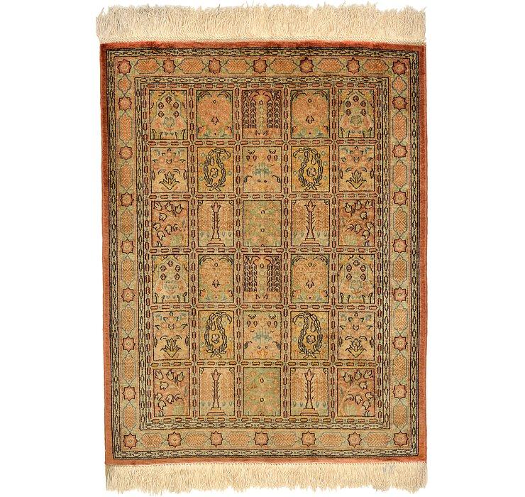 1' 10 x 2' 4 Qom Persian Rug