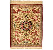 Link to 1' 11 x 2' 7 Qom Persian Rug