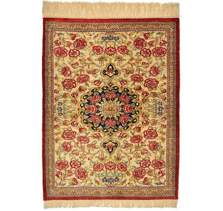 1' 11 x 2' 7 Qom Persian Rug