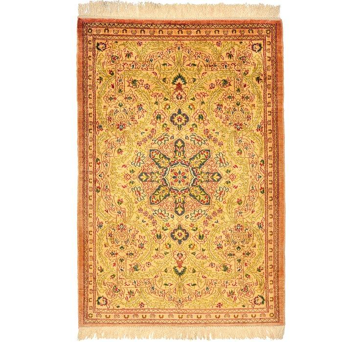 1' 10 x 2' 7 Qom Persian Rug