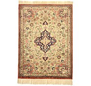 Link to 1' 11 x 2' 6 Qom Persian Rug