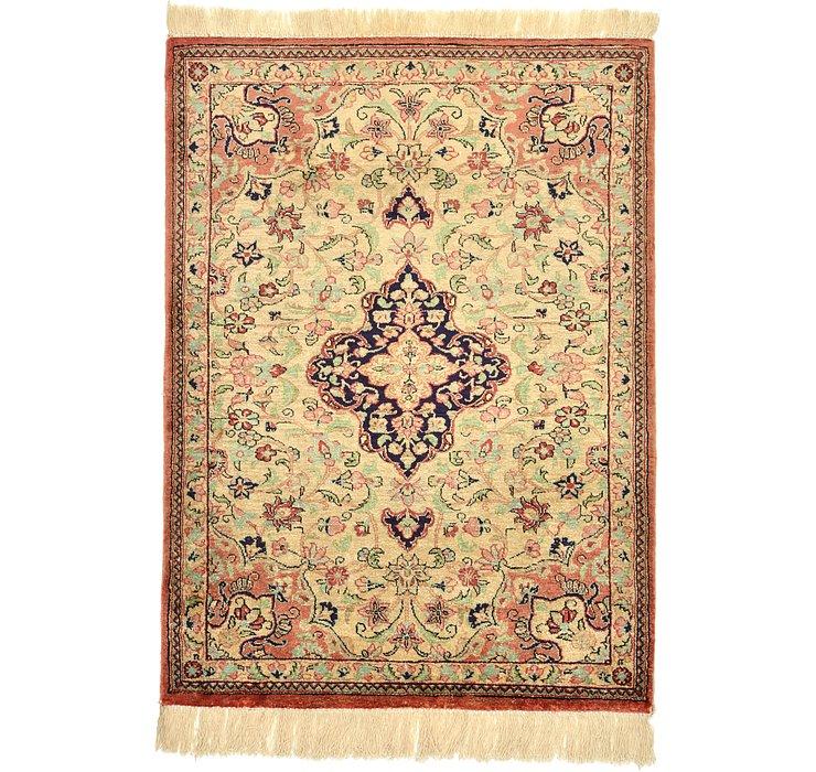 1' 11 x 2' 6 Qom Persian Rug