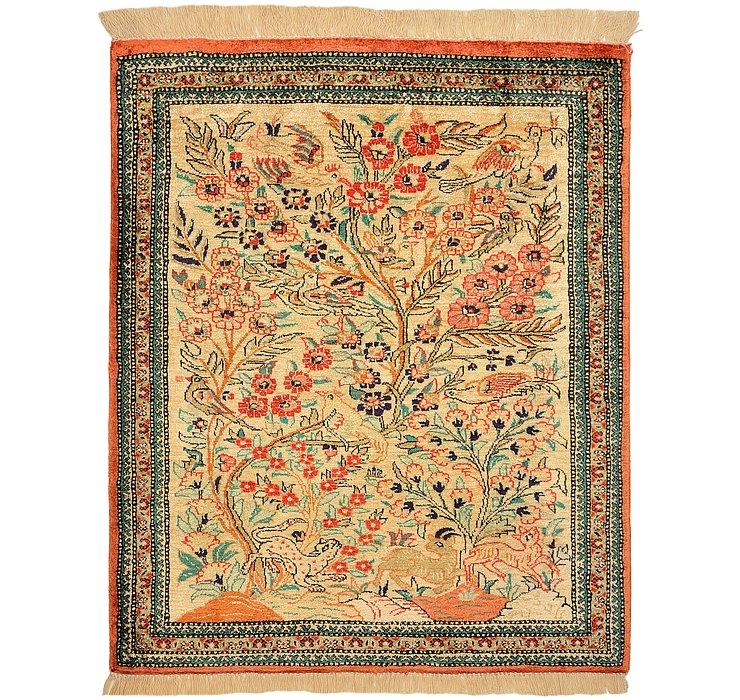2' x 2' 4 Qom Persian Square Rug