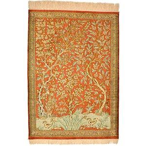 1' 11 x 2' 8 Qom Persian Rug