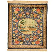Link to 2' x 2' 3 Qom Persian Square Rug