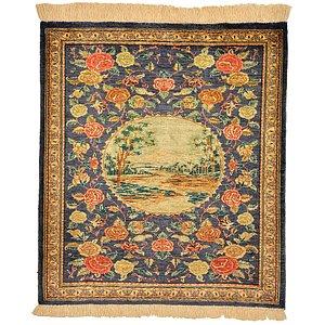 HandKnotted 2' x 2' 3 Qom Persian Square Rug