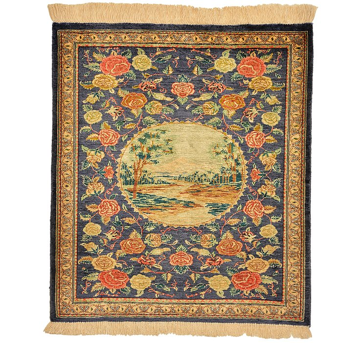 2' x 2' 3 Qom Persian Square Rug