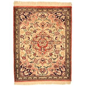 2' x 2' 7 Qom Persian Rug
