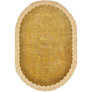 Ovals Yellow Classic  Rugs