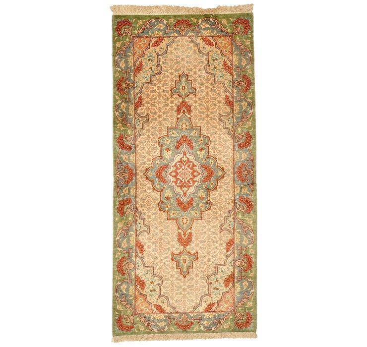 1' 5 x 3' 2 Qom Persian Runner Rug