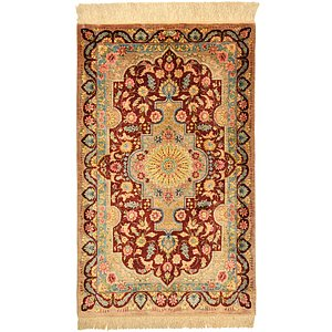 1' 11 x 3' 2 Qom Persian Rug