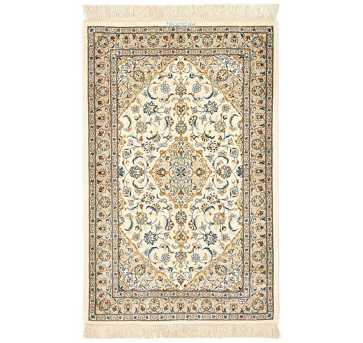 1' 11 x 3' 1 Qom Persian Rug
