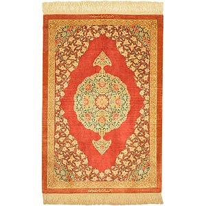 2' 1 x 3' 1 Qom Persian Rug