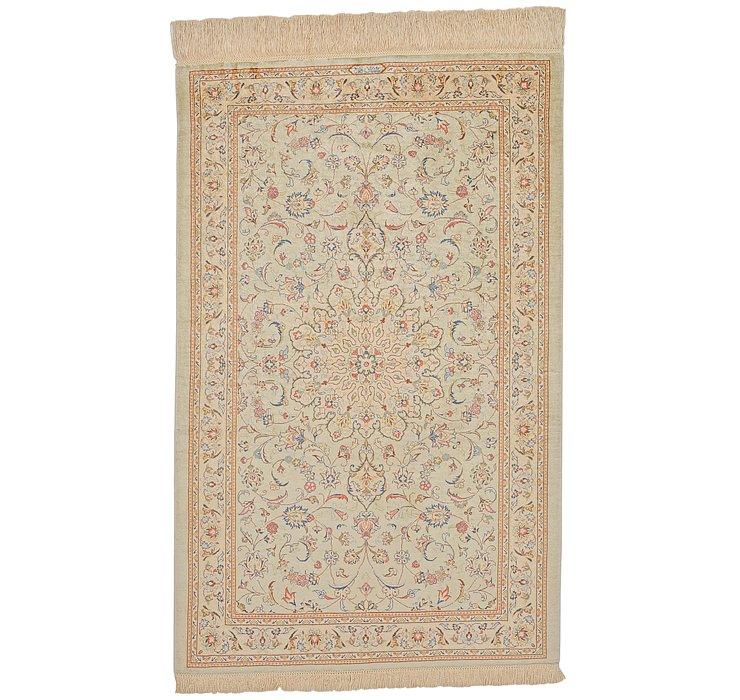 2' 6 x 3' 10 Qom Persian Rug