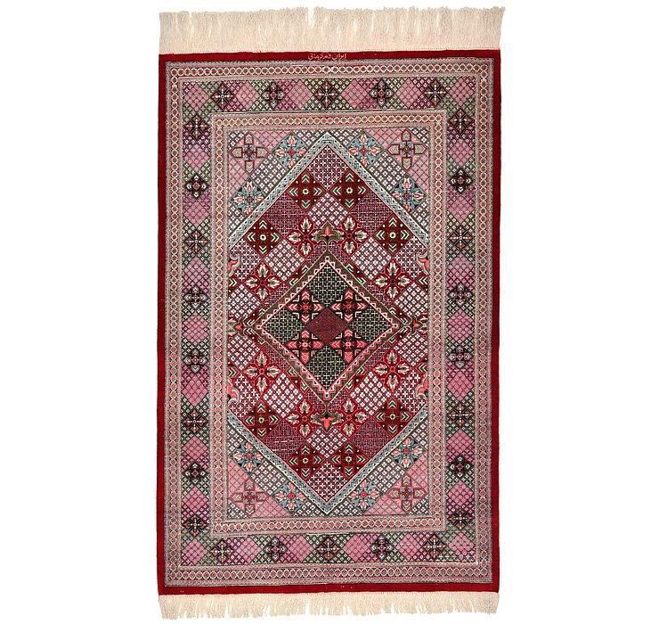 2' 7 x 4' 2 Qom Persian Rug