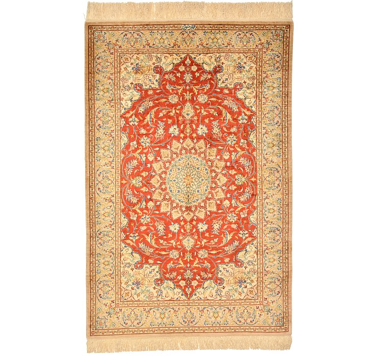 HandKnotted 2' 7 x 3' 11 Qom Persian Rug