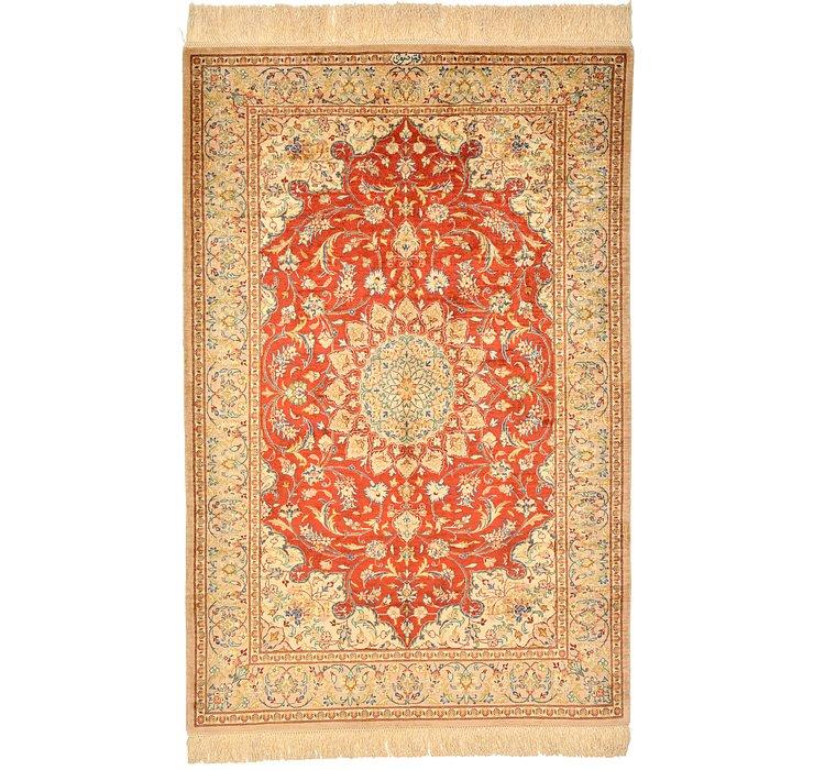 2' 7 x 3' 11 Qom Persian Rug