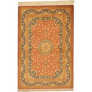Unique Loom 2' 7 x 3' 11 Qom Persian Rug