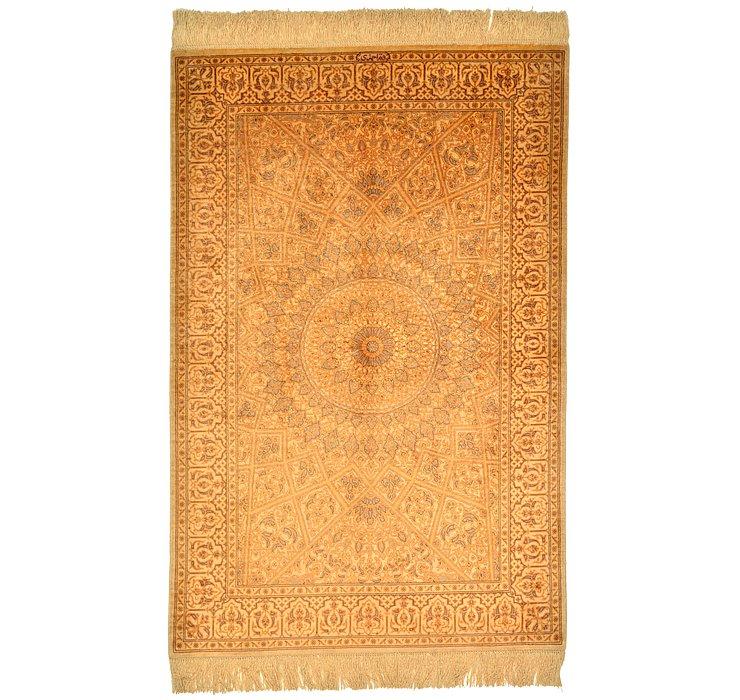 2' 7 x 4' Qom Persian Rug