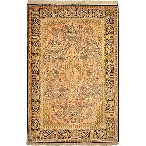 HandKnotted 3' 6 x 5' 3 Qom Persian Rug