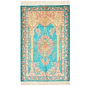 Link to 2' 7 x 4' Qom Persian Rug