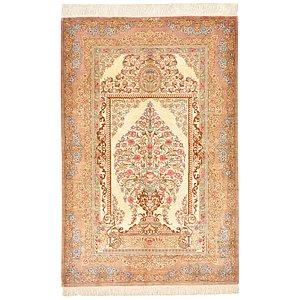 HandKnotted 2' 6 x 3' 11 Qom Persian Rug