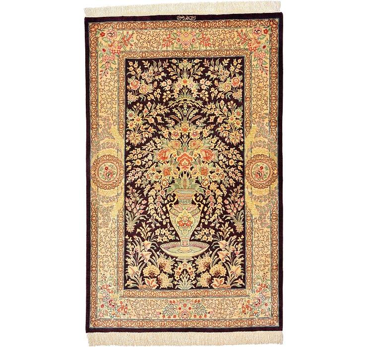 2' 6 x 4' Qom Persian Rug
