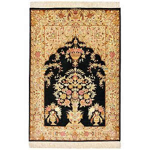 HandKnotted 2' 7 x 3' 10 Qom Persian Rug