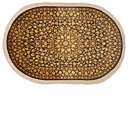 Link to 3' 1 x 4' 10 Qom Persian Oval Rug