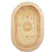 Link to 3' 1 x 5' Qom Persian Oval Rug