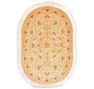Link to 3' 3 x 4' 9 Qom Persian Oval Rug