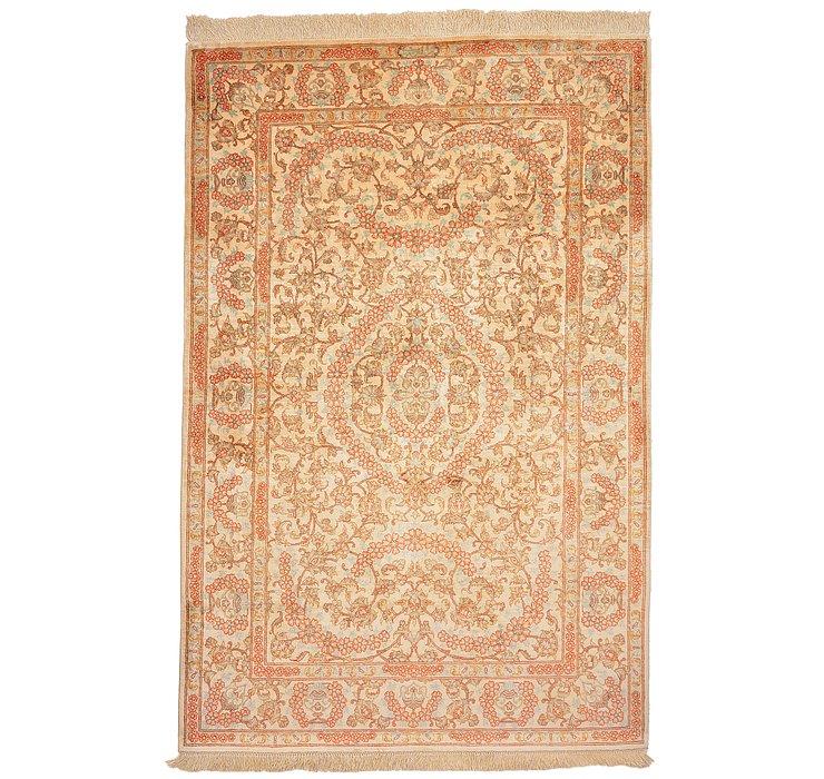3' 4 x 5' 1 Qom Persian Rug