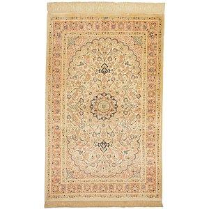 3' 4 x 4' 11 Qom Persian Rug