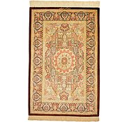 Link to 2' 7 x 4' Qom Persian Rug