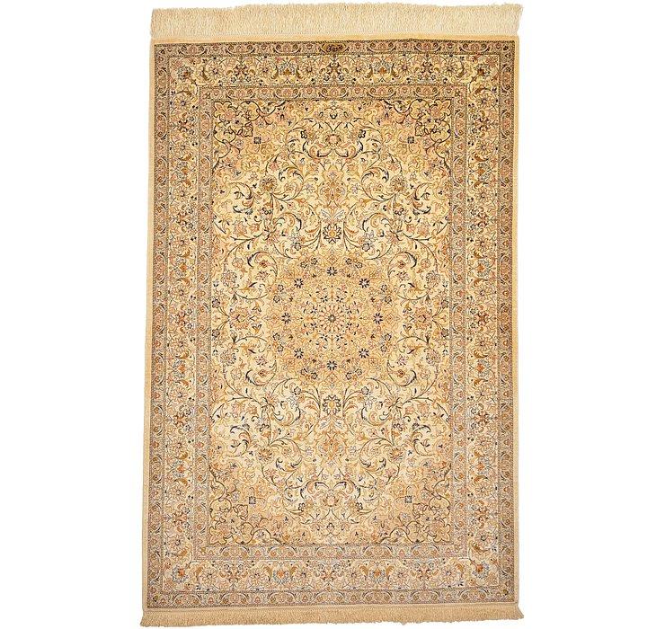 3' 3 x 4' 9 Qom Persian Rug