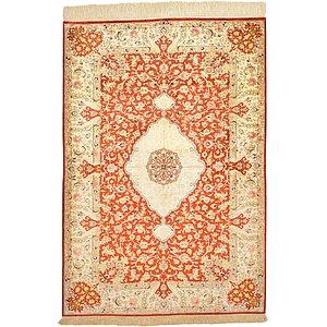 3' 5 x 4' 11 Qom Persian Rug