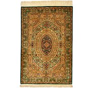 Link to 2' 8 x 4' Qom Persian Rug