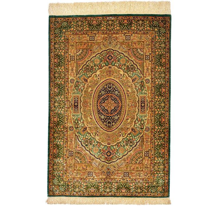 2' 8 x 4' Qom Persian Rug
