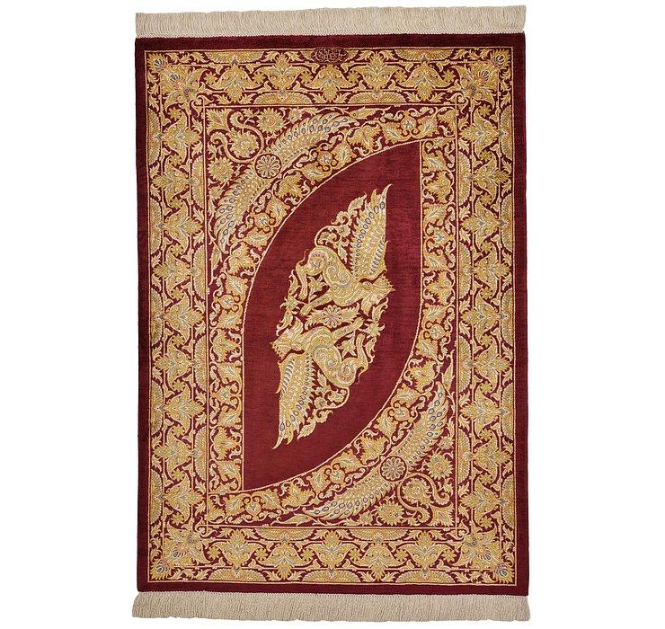 2' 7 x 3' 8 Qom Persian Rug