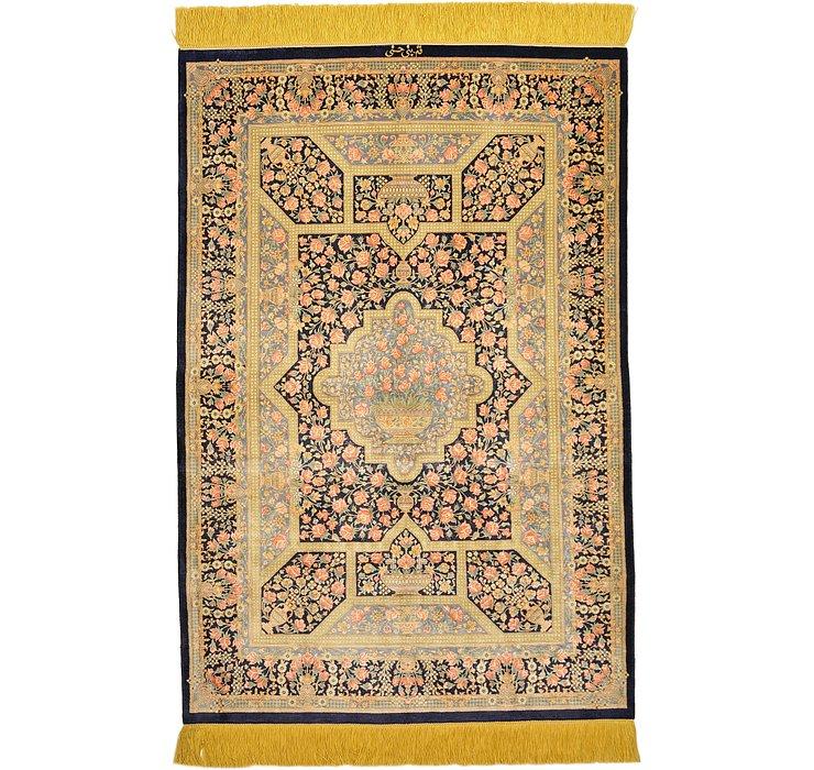 2' 8 x 3' 11 Qom Persian Rug