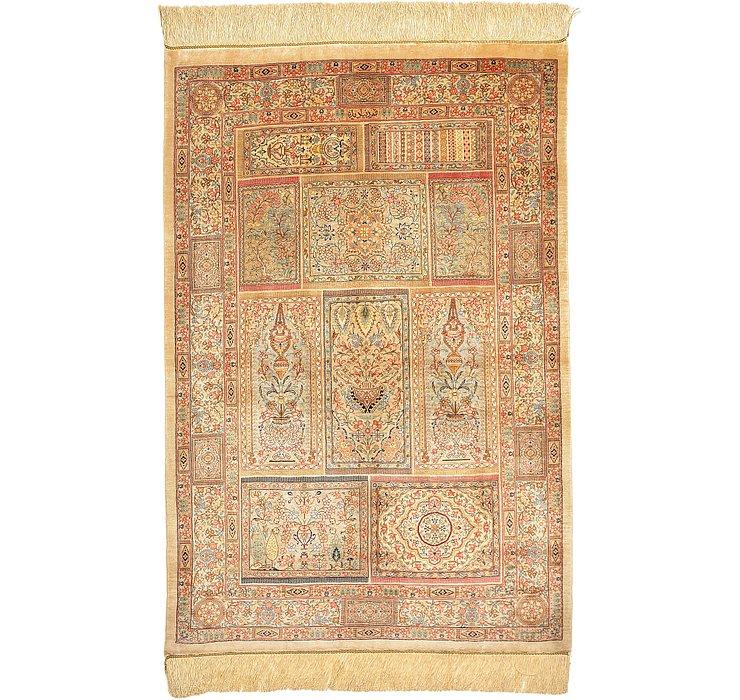 2' 7 x 3' 10 Qom Persian Rug