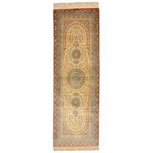 HandKnotted 2' 2 x 6' 5 Qom Persian Runner Rug