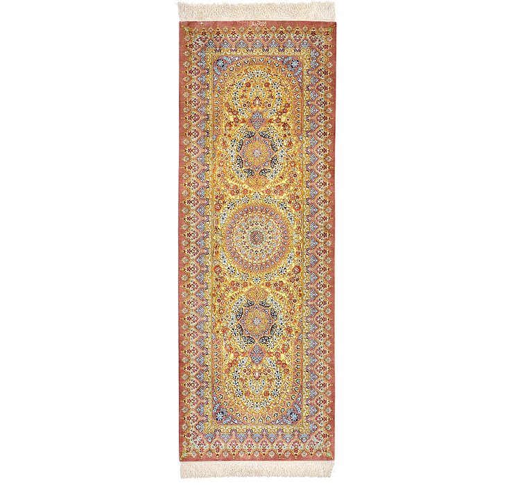 2' 2 x 6' 2 Qom Persian Runner Rug