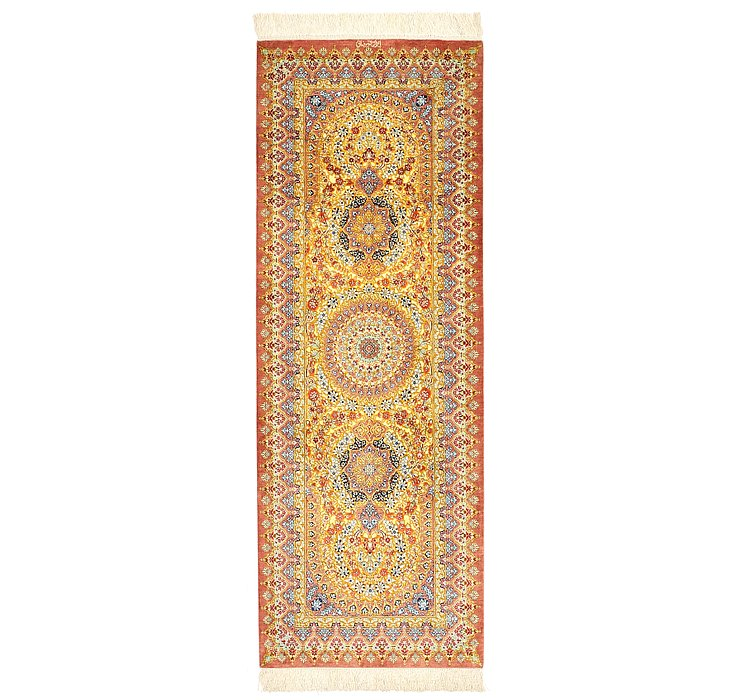 2' 2 x 6' 1 Qom Persian Runner Rug