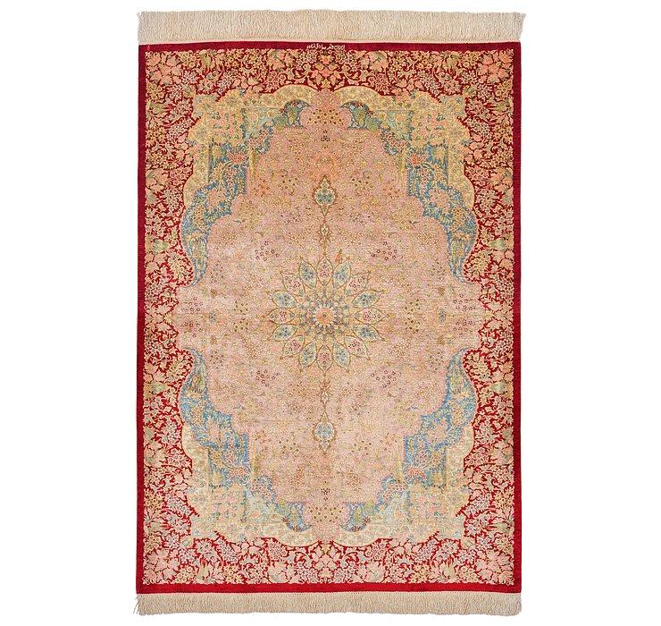 3' 5 x 4' 9 Qom Persian Rug