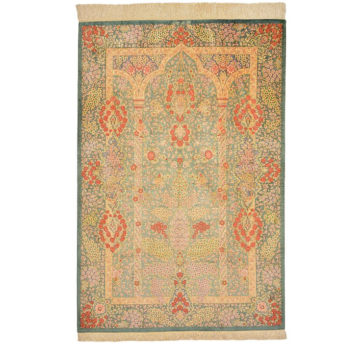 100cm x 147cm Qom Persian Rug
