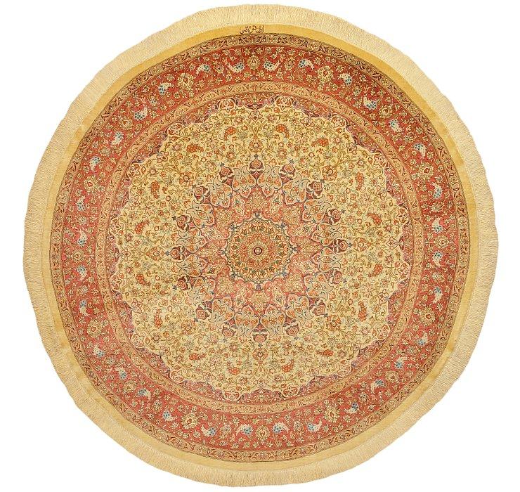 HandKnotted 4' 9 x 4' 9 Qom Persian Round Rug