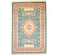 Link to 4' 4 x 6' 4 Qom Persian Rug